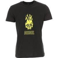 Diesel T-Shirt for Men On Sale, Black, Cotton, 2019, L M S XL