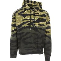 Diesel Sweatshirt for Men On Sale in Outlet, Salbytigercam, Camouflage Green, Cotton, 2019, L M S XL