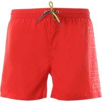Diesel Swim Shorts Trunks for Men On Sale, Red, polyester, 2019, XL S M L