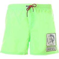 Diesel Swim Shorts Trunks for Men On Sale, Fluo Green, polyester, 2019, XL S M L