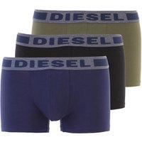Diesel Boxer Briefs for Men, Boxers, 3 Pack, Blue, Cotton, 2019, M (EU 4) S (EU 3) XS (EU 2) L (EU 5