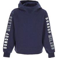 Dondup Kids Sweatshirts & Hoodies for Girls, Blue, Cotton, 2019, 10Y 12Y 6Y 8Y