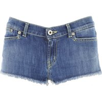 Dondup Kids Shorts for Girls On Sale, Blu Denim, Cotton, 2019, L M XL XS