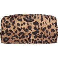 Dolce & Gabbana Makeup Bag Cosmetic Case for Women On Sale, Leopard, polyamide, 2019
