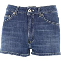 Dondup Shorts for Women, Denim Blue, Cotton, 2019, 26 27 28