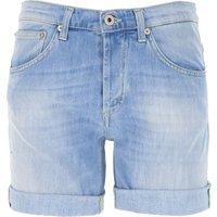 Dondup Shorts for Women On Sale, Light Blue, Cotton, 2019, 25 26 27 28 30