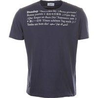 Dondup T-Shirt for Men On Sale, Navy Blue, Cotton, 2019, L S