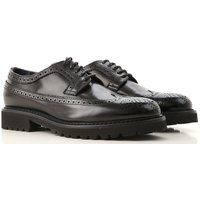 Doucals Lace Up Shoes for Men Oxfords, Derbies and Brogues On Sale, Black, Leather, 2019, 5.5 8