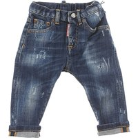 Dsquared2 Baby Jeans for Boys On Sale, Blue Denim, Cotton, 2019, 18 M 2Y