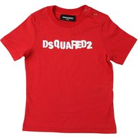 Dsquared2 Baby T-Shirt for Boys On Sale, Red, Cotton, 2019, 12 M 3Y