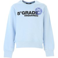 Dsquared2 Kids Sweatshirts & Hoodies for Boys On Sale in Outlet, Skyblue, Cotton, 2021, 6Y 8Y