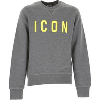 Dsquared2 Kids Sweatshirts & Hoodies for Boys On Sale in Outlet, Grey, Cotton, 2019, 4Y 6Y 8Y