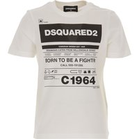 Dsquared2 Kids T-Shirt for Boys On Sale, White, Cotton, 2019, 12Y 14Y 4Y 6Y
