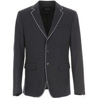 Dsquared2 Blazer for Men, Sport Coat On Sale, Black, Wool, 2019, L XL XS