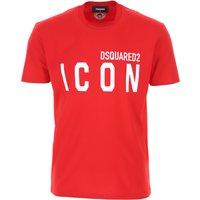 Dsquared2 T-Shirt for Men On Sale, Red, Cotton, 2019, L XL