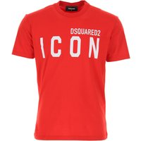 Dsquared2 T-Shirt for Men On Sale, Red, Cotton, 2019, XL XXL