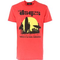 Dsquared2 T-Shirt for Men On Sale in Outlet, Red, Cotton, 2019, S XS