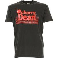 Dsquared2 T-Shirt for Men, Black, Cotton, 2017, L M
