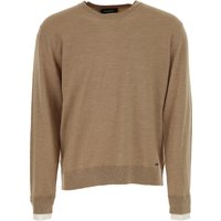 Dsquared2 Sweater for Men Jumper On Sale in Outlet, Beige, Virgin wool, 2017, S XL