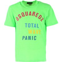 Dsquared2 T-Shirt for Men On Sale, Fluo Green, Cott, 2017, L M S XXL