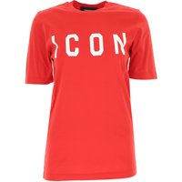 Dsquared2 T-Shirt for Women On Sale, Red, Red, 2019, 6 8