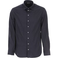 Emporio Armani Shirt for Men, Blue Navy, Cotton, 2021, L XL XXL