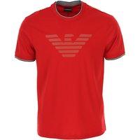 Emporio Armani T-Shirt for Men On Sale, Red, Cotton, 2019, L M XXXL
