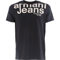 Emporio Armani T-Shirt for Men On Sale in Outlet, Midnight Blue, Cotton, 2017, L S