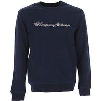 Emporio Armani Sweatshirt for Men On Sale, Blue Navy, Cotton, 2017, L M XL XXL