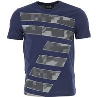 Emporio Armani T-Shirt for Men On Sale, Blue Navy, Cotton, 2017, L M S XL