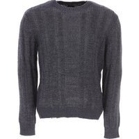 Emporio Armani Sweater for Men Jumper On Sale, navy, Cotton, 2019, XL XS