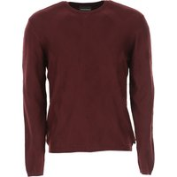 Emporio Armani Sweater for Men Jumper On Sale, wine red, Viscose, 2019, L M S XL
