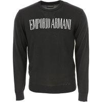 Emporio Armani Sweater for Men Jumper On Sale, Black, Acrylic, 2019, L M S XL XXL