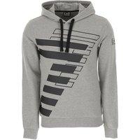 Emporio Armani Sweatshirt for Men On Sale, Medium Grey Melange, Cotton, 2019, L M XL XXL