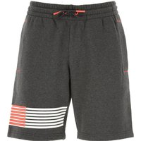 Emporio Armani Shorts for Men On Sale, carbon melange, Cotton, 2019, L M S