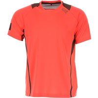 Emporio Armani T-Shirt for Men On Sale, Fluo Red, polyester, 2019, L S XL