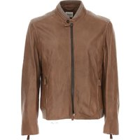 Emporio Armani Jacket for Men On Sale in Outlet, Brown, Lamb Leather, 2017, L XXL