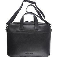 Emporio Armani Briefcase for Men, Black, Leather, 2019