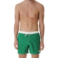 Emporio Armani Swim Shorts Trunks for Men On Sale in Outlet, Emerald Green, Recycled polyamide, 2019