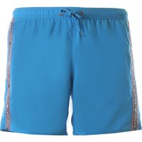 Emporio Armani Swim Shorts Trunks for Men On Sale in Outlet, Cerulean, polyester, 2021, S (EU 46) M