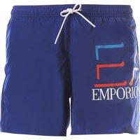 Emporio Armani Swim Shorts Trunks for Men On Sale in Outlet, Mazarine Blue, polyester, 2021, XL (EU
