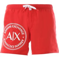 Emporio Armani Swim Shorts Trunks for Men On Sale, Red, polyester, 2019, S M L XL