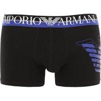 Emporio Armani Boxer Briefs for Men, Boxers, Black, Cotton, 2021, S XL
