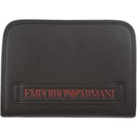 Emporio Armani Wallet for Men On Sale, Black, Leather, 2019
