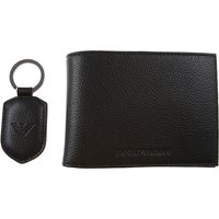 Emporio Armani Wallet for Men, Black, Leather, 2019