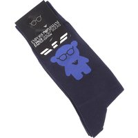 Emporio Armani Socks Socks for Men, 2 Pack, Dark Blue, Cotton, 2019