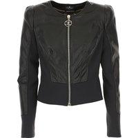 Elisabetta Franchi Jacket for Women On Sale, Black, polyester, 2019, 10 12 14 6 8
