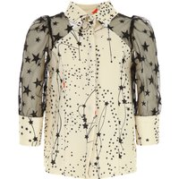 Elisabetta Franchi Kids Shirts for Girls On Sale, Ivory, polyester, 2019, M S XS