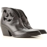 Elena Iachi Boots for Women, Booties On Sale, Black, Leather, 2019, 3.5 4.5 7.5