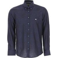 Etro Shirt for Men, Navy Blue, Cotton, 2019, 15.5 15.75 16 16.5